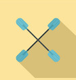 oars icon flat style vector image