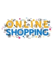 Online Shopping Concept with icons and vector image