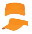 orange visor cap vector image vector image