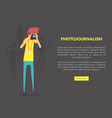 photojournalism landing page template with space vector image vector image