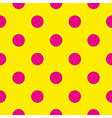 Pink polka dots on yellow background tile pattern
