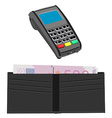 Pos and wallet vector image vector image