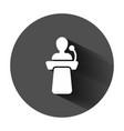 public speach icon in flat style podium vector image