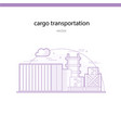 rail transportation of particularly heavy and bulk vector image vector image