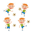 red-haired little boys in vector image vector image