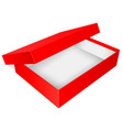 red open box empty carton 3d vector image