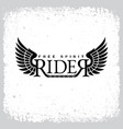 rider free spirit vector image vector image