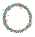 Round wreath with red roses isolated on white vector image vector image