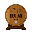 Rum barrel Design for hipster bars restaurants vector image vector image