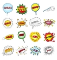 set comic sound effects vector image