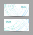 set horizontal banners with curves and dots vector image