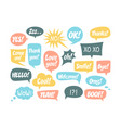 set speech bubbles and dialog balloons vector image vector image
