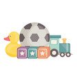 set toys entertainment icons square frame and vector image vector image