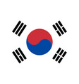 south korea nation flag official colors vector image vector image