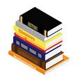 stack school books literature geometry vector image vector image