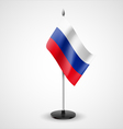 Table flag of Russian Federation vector image vector image