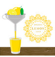 the theme lemon vector image vector image