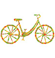 Vegan bicycle vector image vector image