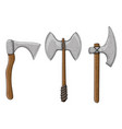 viking axes colored hand drawn sketch vector image vector image