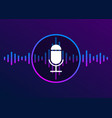voice recognition and personal assistant icon vector image vector image