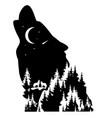 wolf fantasy vector image vector image