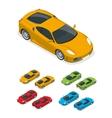 Isometric Yellow sports car vector image