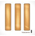 Wooden Eco Banner vector image
