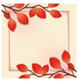 3D floral frame template vector image vector image