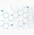 abstract blue geometric hexagons molecular vector image vector image