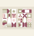 abstract wine posters set in geometric style vector image