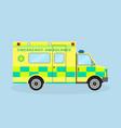 ambulance vehicle emergency medical service car vector image