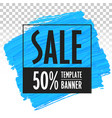banner template for sales trend eps vector image