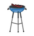 bbq tasty meat sausage grilled food vector image