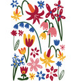 beautiful colorful wild or garden flowers floral vector image vector image