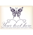 Beautiful vintage retro butterfly vector image vector image