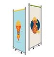 Blank roll up banner display template for