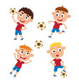 boys in shirt and short vector image vector image