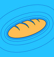 bread sign sand color icon with black vector image vector image