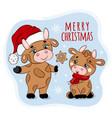 bull treating christmas gingerbread vector image vector image