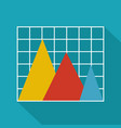business chart icon flat vector image