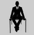 business man black and white 17 vector image vector image