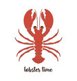 card with lobster vector image