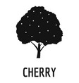cherry icon simple black style vector image vector image