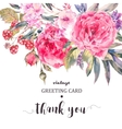 Classical vintage floral greeting card natural vector image