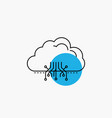 cloud computing data hosting network line icon vector image vector image
