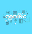 coding text concept modern flat style vector image