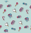 colored candy pattern vector image vector image