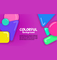 colorful background with shapes bubbles vector image vector image