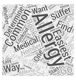 Common Allergy Symptoms Word Cloud Concept vector image vector image