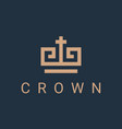 crown logo icon vector image vector image